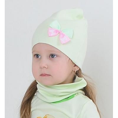 Комплект шапка и снуд LovelyKids светло-салатовый