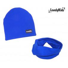 Комплект шапка и снуд LovelyKids синий