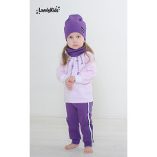 Комплект шапка и снуд LovelyKids фиолетовый
