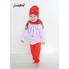Комплект шапка и снуд LovelyKids красный