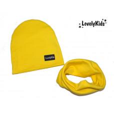 Комплект шапка и снуд LovelyKids жёлтый